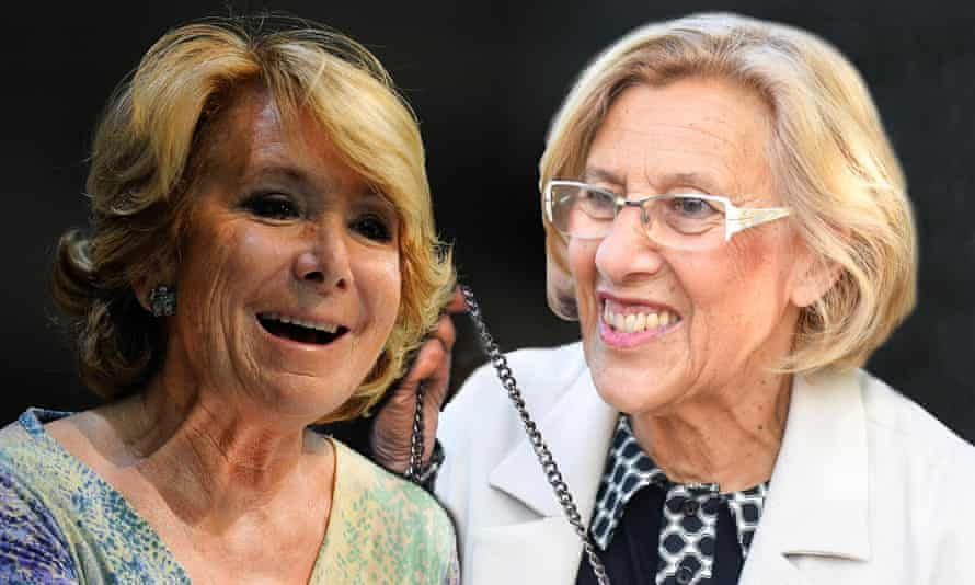 Esperanza Aguirre (left) looked set for an easy victory over Manuela Carmena until her 10-point lead evaporated.