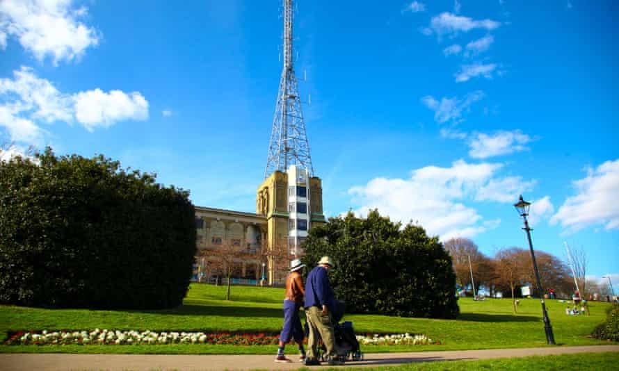 Alexandra Palace park in north London.