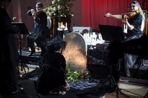 The Funeral Party, a one-off gothic gala costume ball, was held at Turnbull Family Funerals in Hobart as part of the Dark Mofo festival.