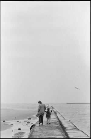 On the pier. Wirral, 1968
