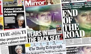 Front pages of the UK Papers on Thursday 23 May