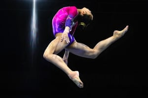 Stuttgart, GermanyRussia's Angelina Melnikova performs on the balance beam during the womens all-around final at the FIG Artistic Gymnastics World Championships.
