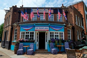 The Jameson pub in west London, which has been renamed the Trump Arms for the visit