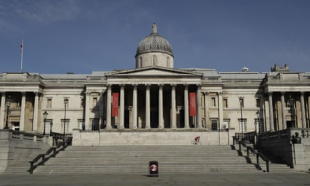 The National Gallery, London, in a photograph taken on 24 March 2020.