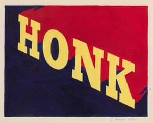 Ed Ruscha's Honk, 1962