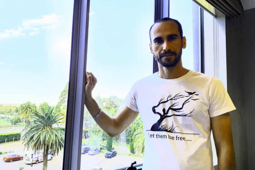 Moz Azimi in the Mantra Hotel.