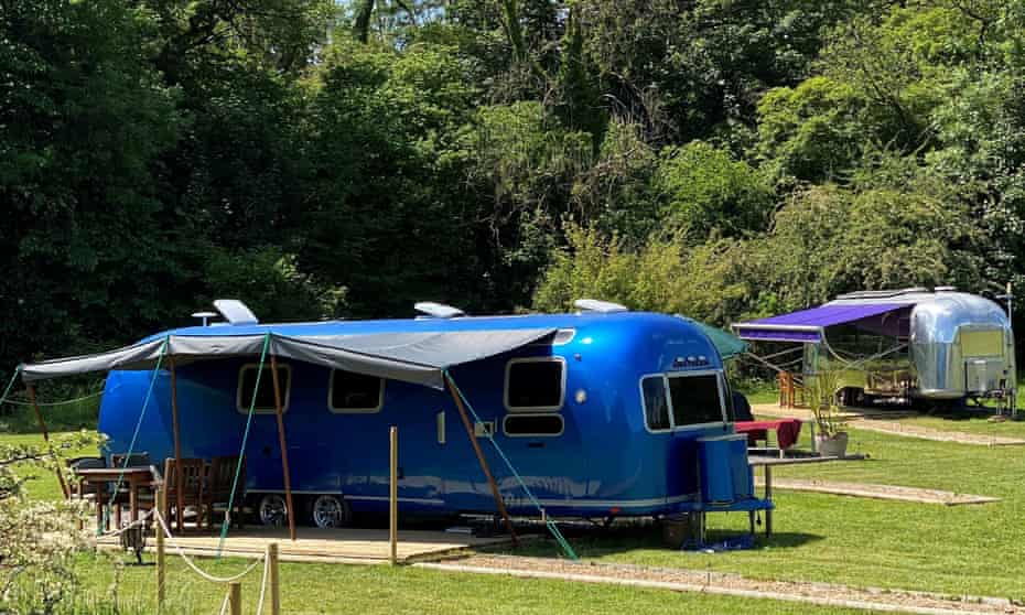 Airstream caravan Beth, at Brookover Farm, Somerset