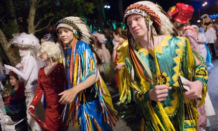 Participants dressed in 'bright costumes'. Mexico will play New Zealand at Fisht stadium in Sochi
