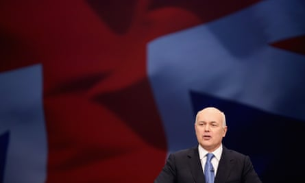 Iain Duncan Smith at the Conservative party conference in October.