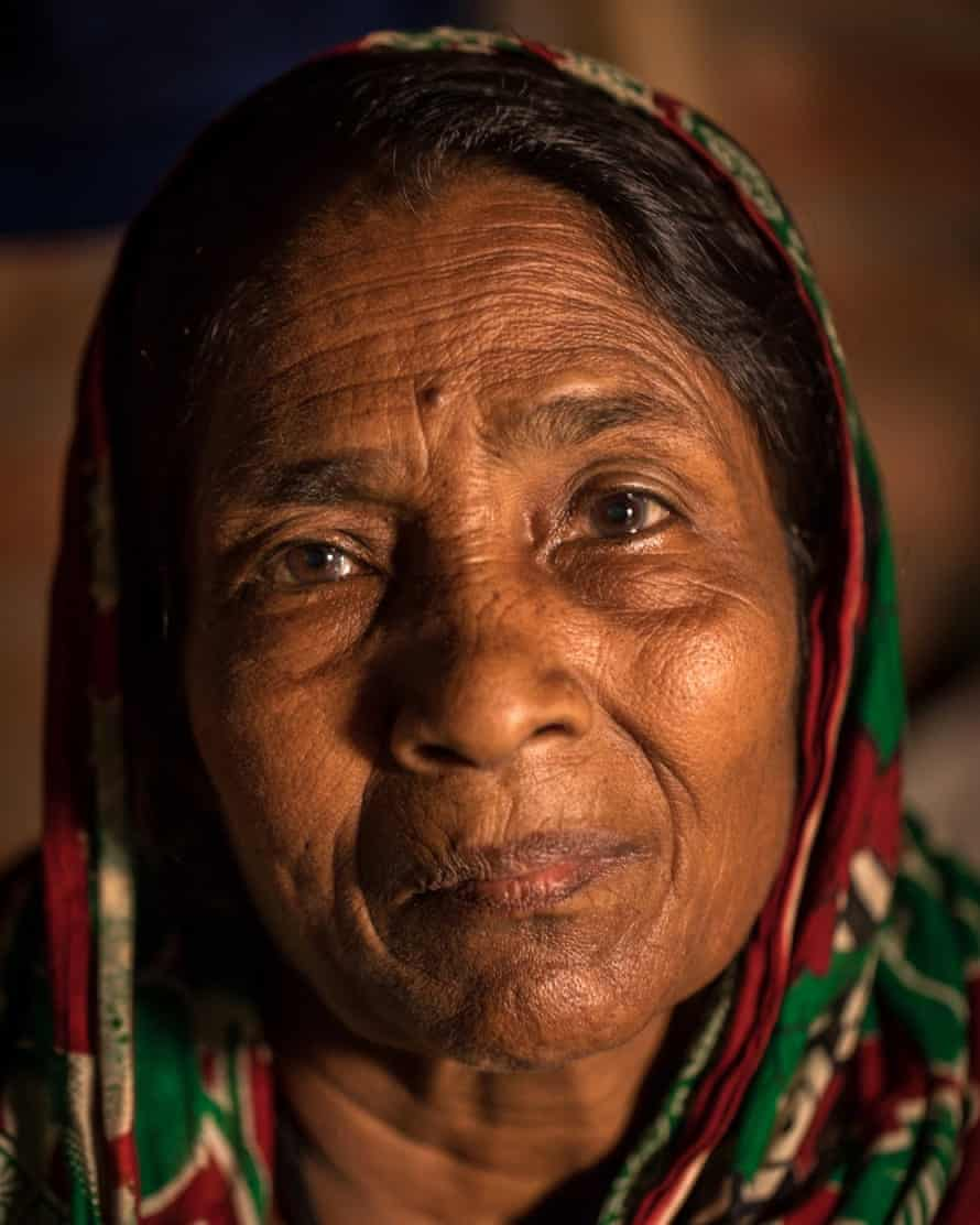 Renu Bibi, lives in Dhaka after fleeing her rural home due to river erosion
