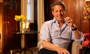 Hugh Grant ... 'all English diffidence and twinkling-but-soulful blue eyes gazing out ...'