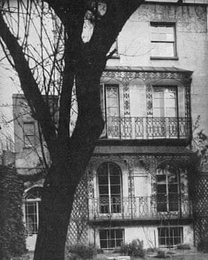 Allan Chappelow's house on Downshire Hill, Hampstead, in 1948