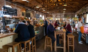 The Goods Shed, a farmers' market and food hall in Canterbury.