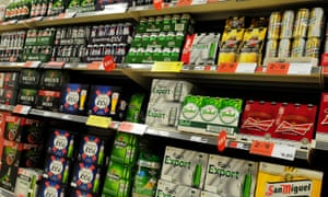Alcohol on sale in supermarket