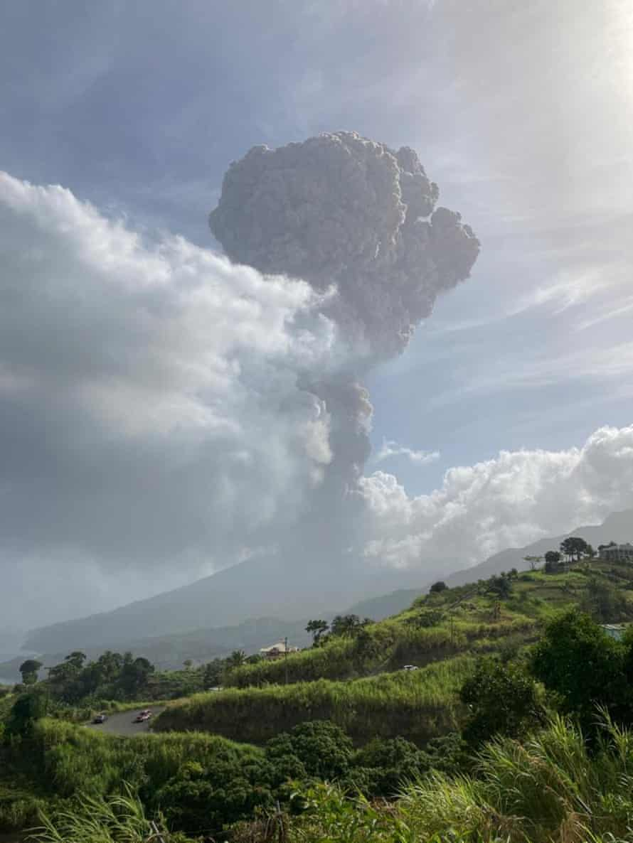 The eruption occurred a day after a red alert was declared.