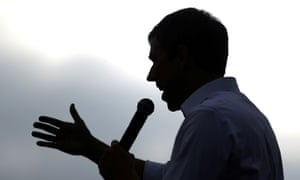 Beto O'Rourke speaks at a rally in Los Angeles, California, on 27 April 2019.