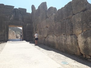 Tourists visit the site of ancient Mycenae on the Greek mainland which has so far been spared quarantine measures from the UK.