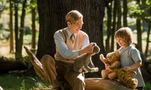 Stodgy porridge … Domhnall Gleeson and Will Tilston in Goodbye Christopher Robin.