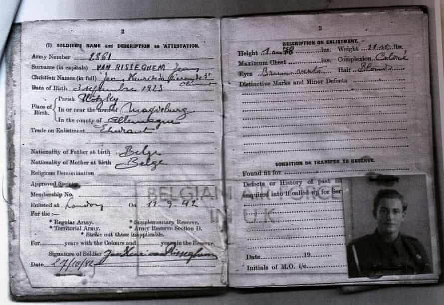 Van Risseghem's wartime documents.