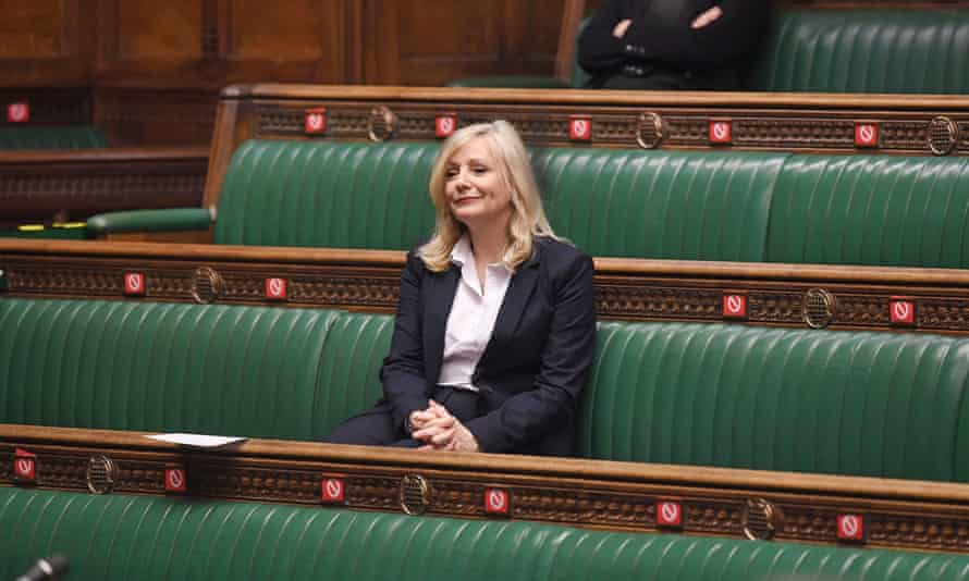 Tracy Brabin during a Covid-19 update by Matt Hancock in the House of Commons.