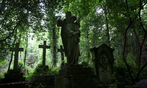 Highgate cemetery, London.