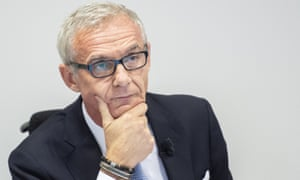 Credit Suisse chairman Urs Rohner at a press conference
