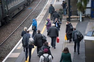 Boris Johnson leaves a train station in Castle Cary, UK