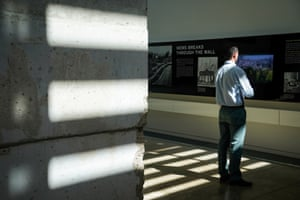 The Berlin Wall gallery at the Newseum.
