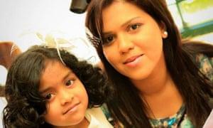 Manik Suriaaratchi and her daughter, Alexendria
