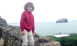 George at Tantallon Castle