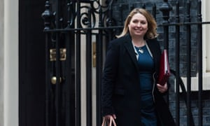 Karen Bradley leaves Downing Street on Tuesday after becoming secretary of state for Northern Ireland in this week's cabinet reshuffle