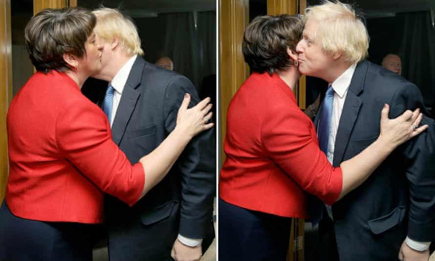 Arlene Foster and Boris Johnson
