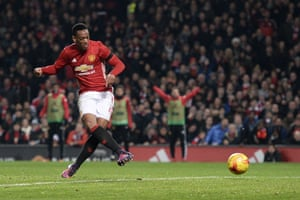 Martial slots home his second, United's third.