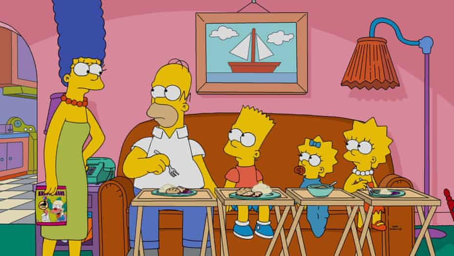 The Simpsons portrayed the nuclear family of the late 80s.