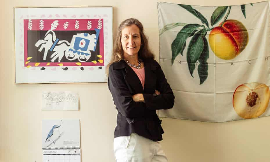 Dr Anna Lembke shot in her office in Silicon Valley, US