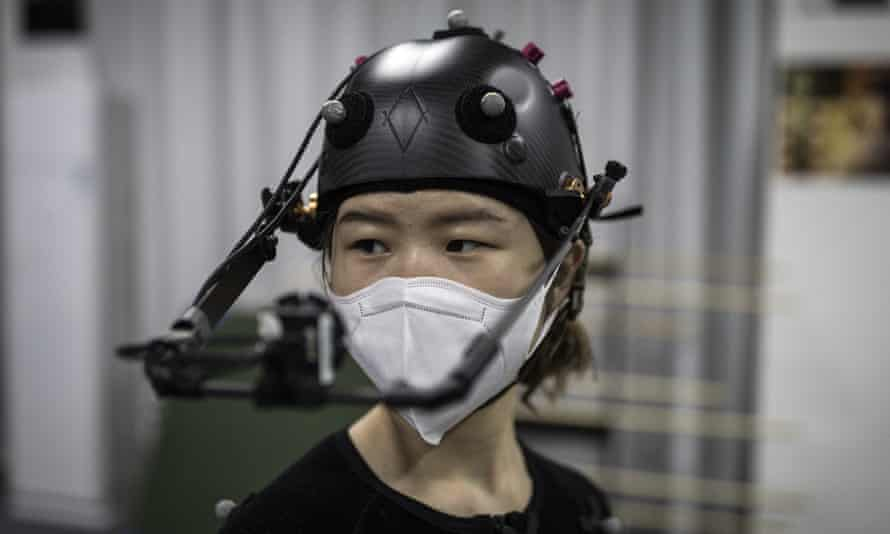 Animators in Wuhan, China, doing motion capture at the 2:10 animation studio in Optical Valley.