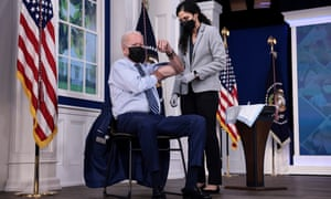 President Biden receives Covid-19 booster shot at the White House.