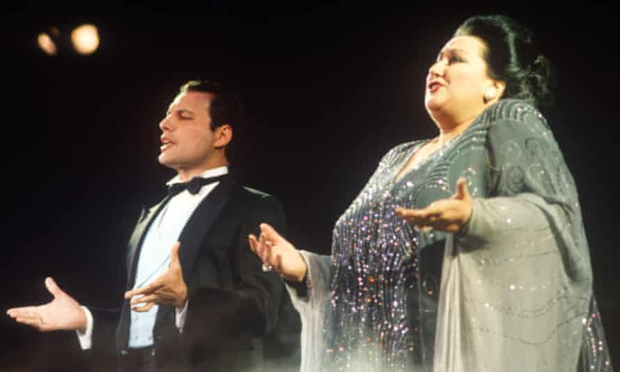 'He let it all out on stage' … Freddie Mercury And Montserrat Caballe.