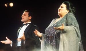 Freddie Mercury And Montserrat Caballe in Ibiza, 1987.