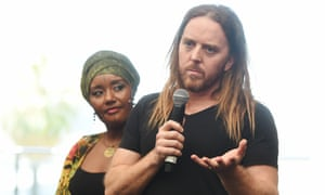 Grace Barbe and Tim Minchin in Perth ahead of their appearance at the Perth International Art festival opening concert Home.