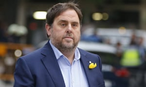 The former Catalan vice-president Oriol Junqueras