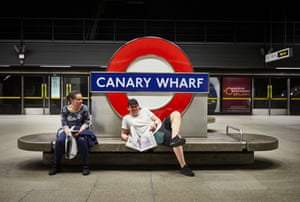 Charlie Briars and Varelie Ivalor at Canary Wharf Station.