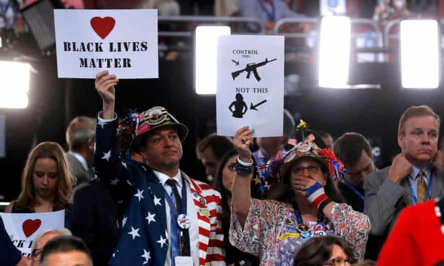 black lives matter gun control dnc