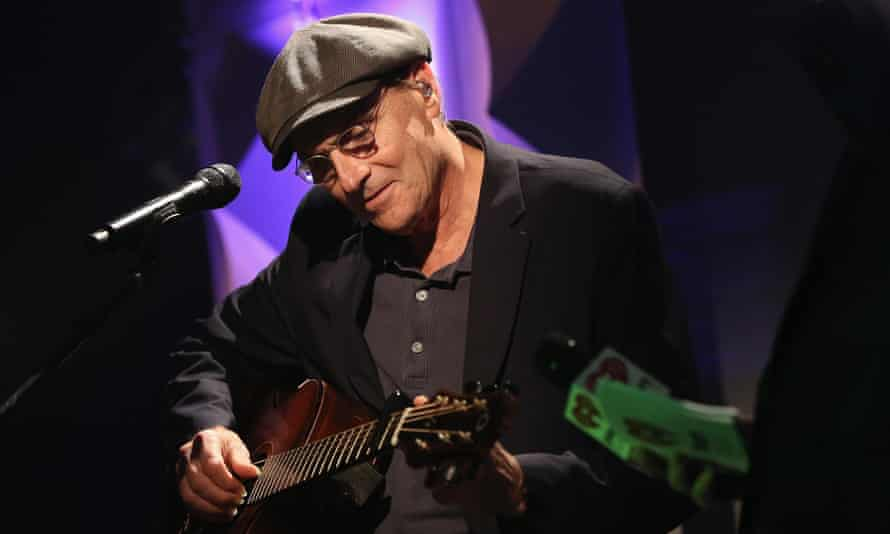 James Taylor at the iHeartRadio theatre in New York on 22 June 22.