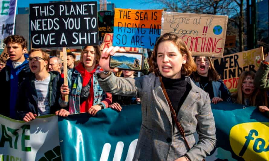 Belgian climate activists take part in the 13th edition of the student strike action, organised by 'Youth For Climate'.
