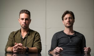 2/28/19, HBO Inc. 1100 6th Ave, New York, NY 10036, Manhattan, New York Wade Robson, left and James Safechuck at HBO Inc. on 6th Ave in Manhattan. Dan Reed's two-part four hour documentary lays bare Michael Jackson's alleged sexual abuse of James Safechuck and Wade Robson. Joshua Bright for The Guardian