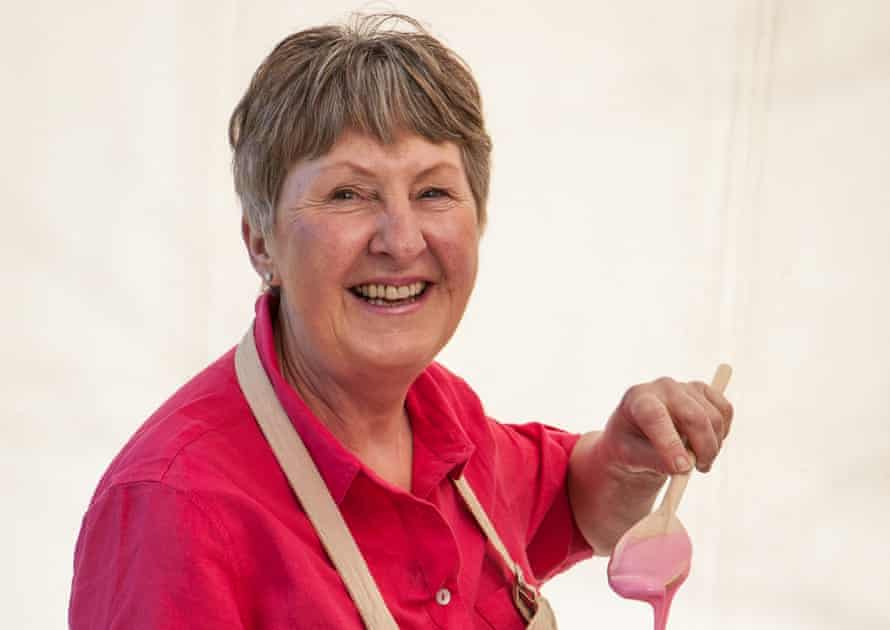 Val is invading Mary Berry's turf as the agile matriarch. This will not end well.