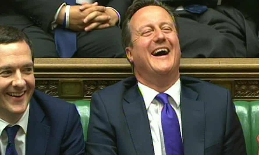 Cameron and Osborne during the Queen's speech debate