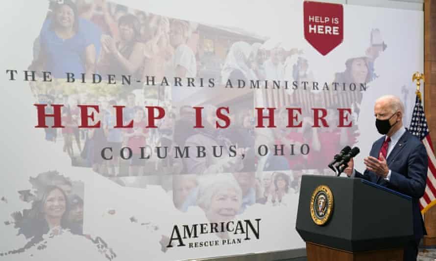 President Joe Biden speaks at the James Cancer Hospital at Ohio State University on Tuesday.