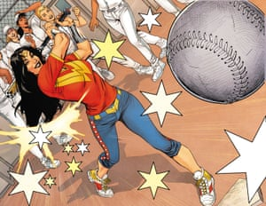 Knocking it out of the park ... an image from the second volume of Wonder Woman: Earth One.